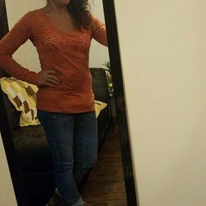 Maurices longsleeved orange shirt